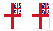 WHITE ENSIGN ROYAL NAVY 18m metre BUNTING 60 feet 30 flags flag BRITISH NAVAL