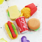 5Pcs Lovely Fast Food Style Rubber Pencil Eraser Students Stationery Toy GB