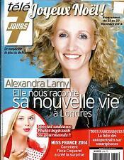 TELE 7 JOURS N°2795 21 DECEMBRE 2013  ALEXANDRA LAMY/ SPECIAL CADEAUX/ LUTZ
