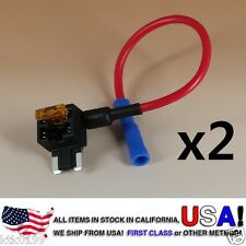 2 Add A Circuit Standard ATM APS Low Profile Blade Style Fuse Holder Tap + 5 AMP