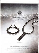 SHAMBALLA JEWELS Publicité de Magazine ( page de mag)Magazine advertisement.