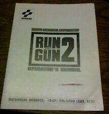 Konami RUN AND GUN 2 Arcade Video Game Manual - good used original