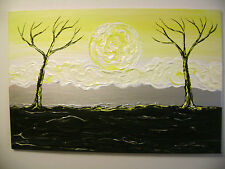 Enlighted - Original Abstract Acrylic Painting Canvas Landscape - 24 x 36