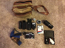Nikon FG Camera 35mm SLR Film Camera with 50mm and 80-205mm lenses + extras