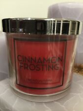 BATH & BODY WORKS CINNAMON FROSTING 4 OZ SMALL CANDLE WITH CLOVES & BUTTERCREAM