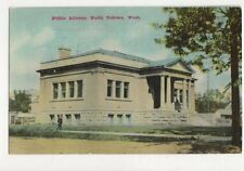 Public Library North Yakima Wash Vintage USA Postcard 510a
