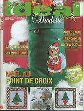 IDEAL BRODERIE N°19 NOEL AU POINT DE CROIX CATALOGUE