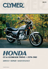 Clymer Repair Service Shop Manual Vintage Honda CX500 CX650 GL500 GL650