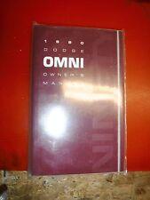 1990 DODGE OMNI ORIGINAL FACTORY OPERATORS OWNERS MANUAL GLOVE BOX