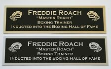 Freddie Roach nameplate name plate for signed boxing gloves photo or case