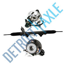 3 pc Set: Steering Rack and Pinion + 2 Wheel Hub Bearing Assembly; 4x4 w/ ABS