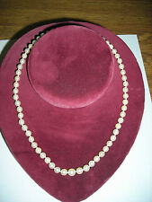 Fine Set of Real Cultured Pearls Necklace Graduated Size 14K Yellow Clasp Vintag