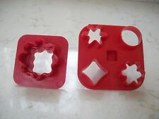 2 vintage Tupperware canape vegetable garnish play doh cookie cutters 730 797