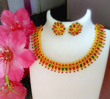 NatureCharm Traditional Short Necklace Set with Earrings