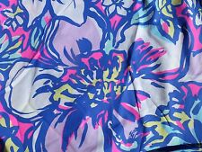 "Lilly Pulitzer  Cotton Poplin Fabric1 yard 36""x 58"" tropical pink catwalkin"