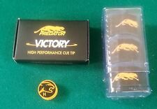 Predator Tip / Chalk Combo- Hard Victory Cue Tip & 3 Pc 1080 Pure Chalk + Holder