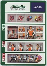 ALITALIA A-320 safety card 64502022 standard size - sc621