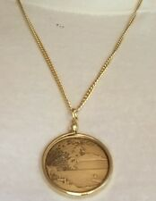 """AA Medallion Holder 24"""" Necklace Serenity Peace Within The Storm Sobriety Chip"""