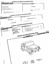 1973 1974 VOLKSWAGEN VW THING 73 74 BODY PARTS LIST CRASH SHEETS MFRE 2