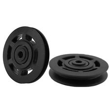95mm Black Bearing Pulley Wheel Cable Gym Fitness Equipment Part Tool Wearproof