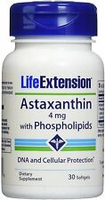 Astaxanthin with Phospholipids, Life Extension, 30 softgels 1 pack