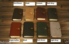 9X5 Handmade Vintage Retro Custom Leather Button Travel Journal Diary Note Book
