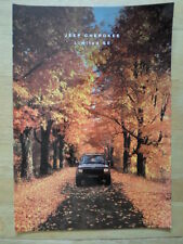 JEEP CHEROKEE LIMITED SE 1991-92 UK Mkt Glossy Sales Brochure
