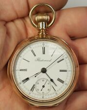CH Meylan Chronograph 14K Gold WP&H Swiss Antique Pocket Watch 18s Fleetwood