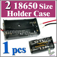 """1 pc Battery Holder Case box for 2x 17650 18650 Li-ion battery with 6"""" Wire Lead"""