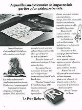 PUBLICITE  1972   LE PETIT ROBERT   dictionnaire culture