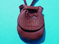 Jumping Buck Brand Medicine Bag Leather Flap Pouch Buckskin Necklace 1049