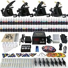 Solong Tattoo Complete Tattoo Kit 4 Pro Machine Guns 54 Inks Power Supply