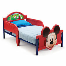 DELTA CHILDREN DISNEY MICKEY MOUSE JUNIOR TODDLER STARTER BED WITH 3D FOOTBOARD