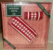 Laura Ashley Two Piece Set Cosmetic & Lipstick Case New in Box