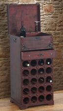 Etagère à vin Calvados pour 20 bouteilles / mobilier de bois / style colonial