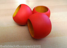 RED WOODEN NAPKIN RING (SOLD INDIVIDUALLY)