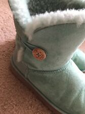Women's Ugg Australia One Button Teal Boots Size 7