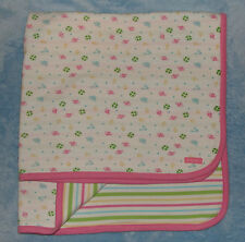Nautica Cotton Baby Receiving Blanket Fish Anchor boat Stripe Pink Green Blue
