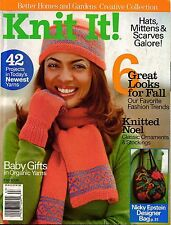 BHG Knit It Knitting Patterns Boho Coat Cat Bordhi Felted Bag Baby Gift Hat 2006