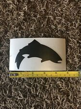 """Simms Fly Fishing Sticker Decal Black Trout Approx 5"""""""