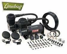 Viair Dual Stealth Black Twin 12 Volt 380C Air Compressor (200PSI) Air Ride Kit