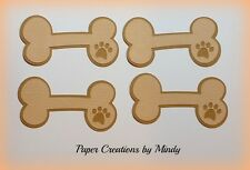 Craftecafe Mindy Embellishment dog puppy bones premade paper piecing scrapbook