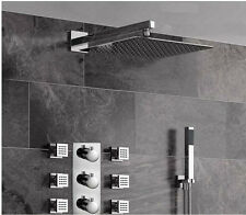 Luxury Rain Shower Faucet Set Bathroom Hand Shower With 6 Massage Jets Sparyer