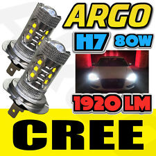 2pcs HID H7 6000K 80W LED SMD CREE PROJECTOR FOG DRIVING DRL BULB LIGHT