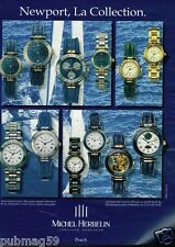 Publicité advertising 1994 Les Montres Newport Michel Herbelin