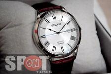 Seiko Sapphire 100m Leather Strap Men's Watch SGEG97P1