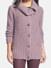 Lafayette 148 New York NEW Purple Women Medium M Cardigan Sweater $448- 440 DEAL