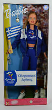 NRFB-2000 AUS SYDNEY OLYMPIC FAN BARBIE-GREECE FLAG-INT'L-STRAWBERRY BLONDE-RARE