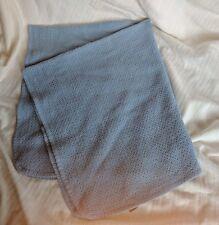 Coyuchi Blue Organic Cotton Honeycomb Throw Blanket