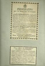 Preservativo per la Stagione Invernale - Ditta Pietro Bortolotti Bologna 1889